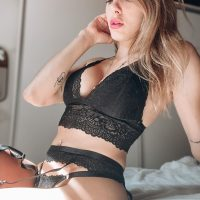 Beautiful Argentine model Camila Sol Botti wearing Caramelas lingerie in a sensual photo session